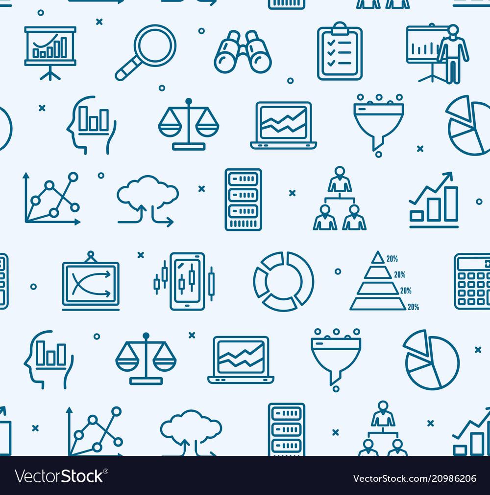 Data analytics statistics signs seamless pattern