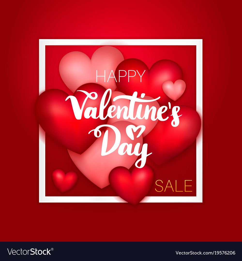 Happy Valentines Day Sale Royalty Free Vector Image