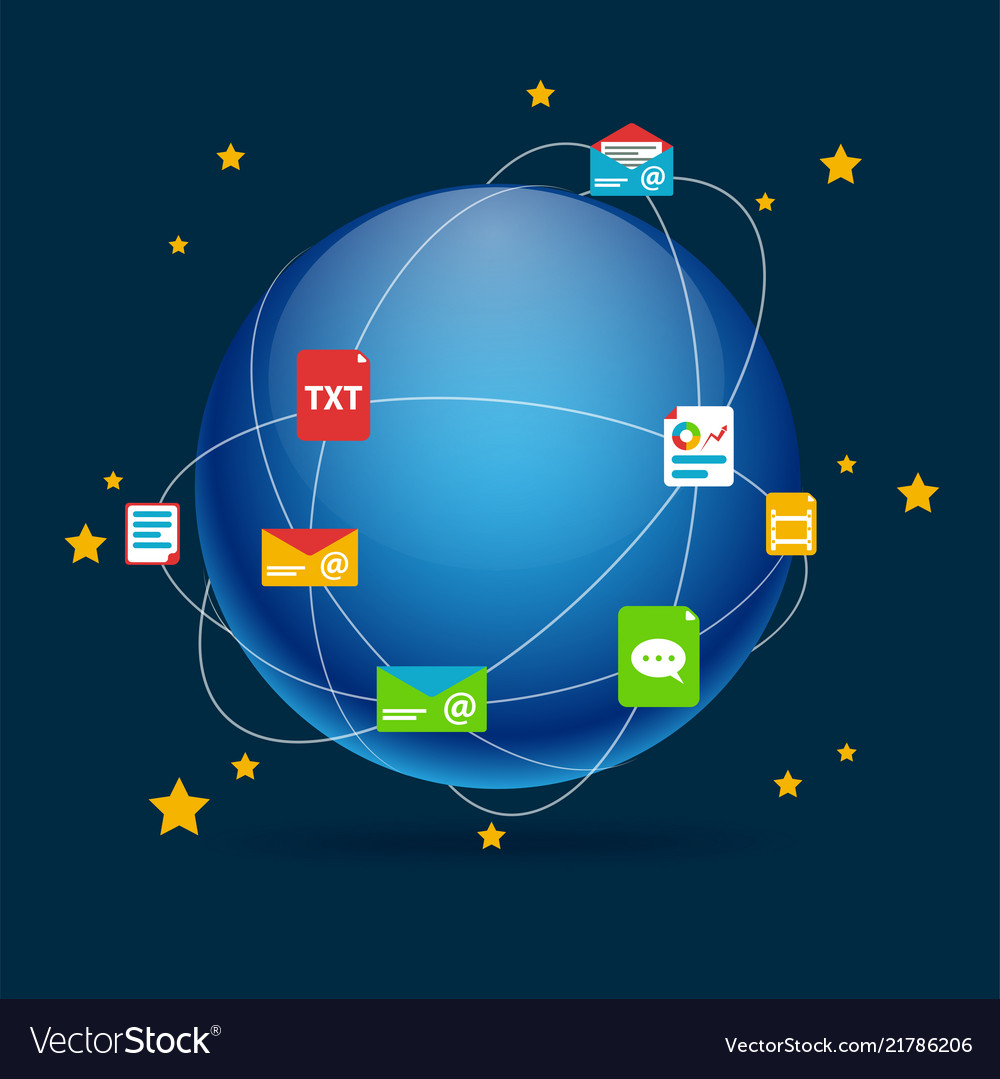 Infographic social network concept earth backgroun
