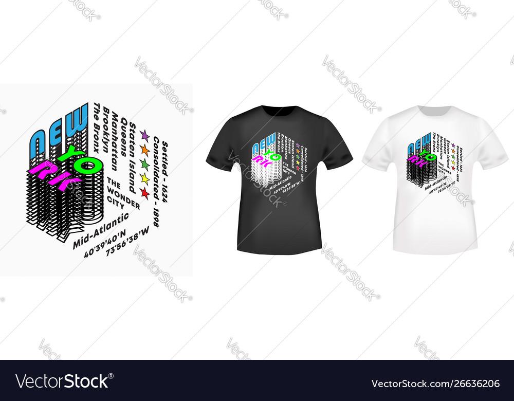New york city - five boroughs t-shirt print