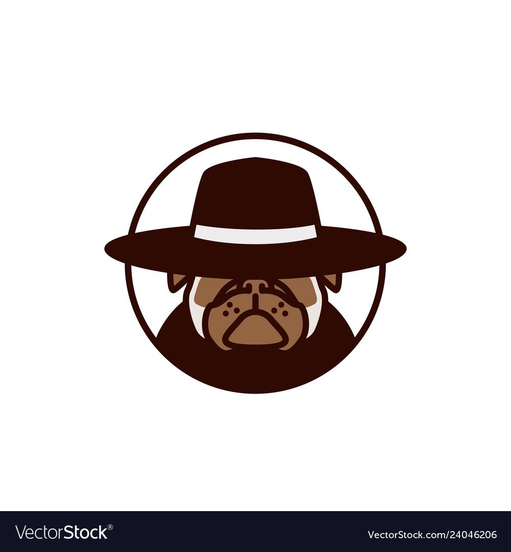 Pitbull using hat logo