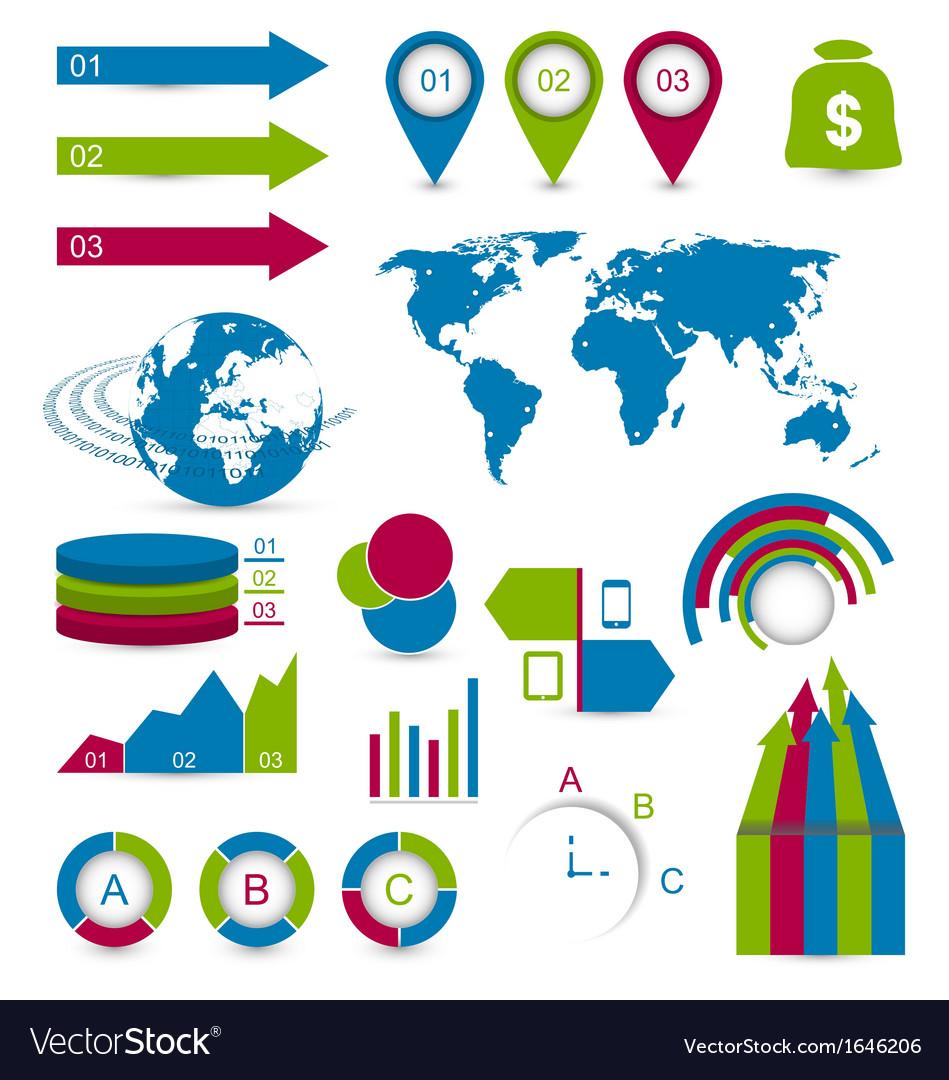 Set detail infographic elements