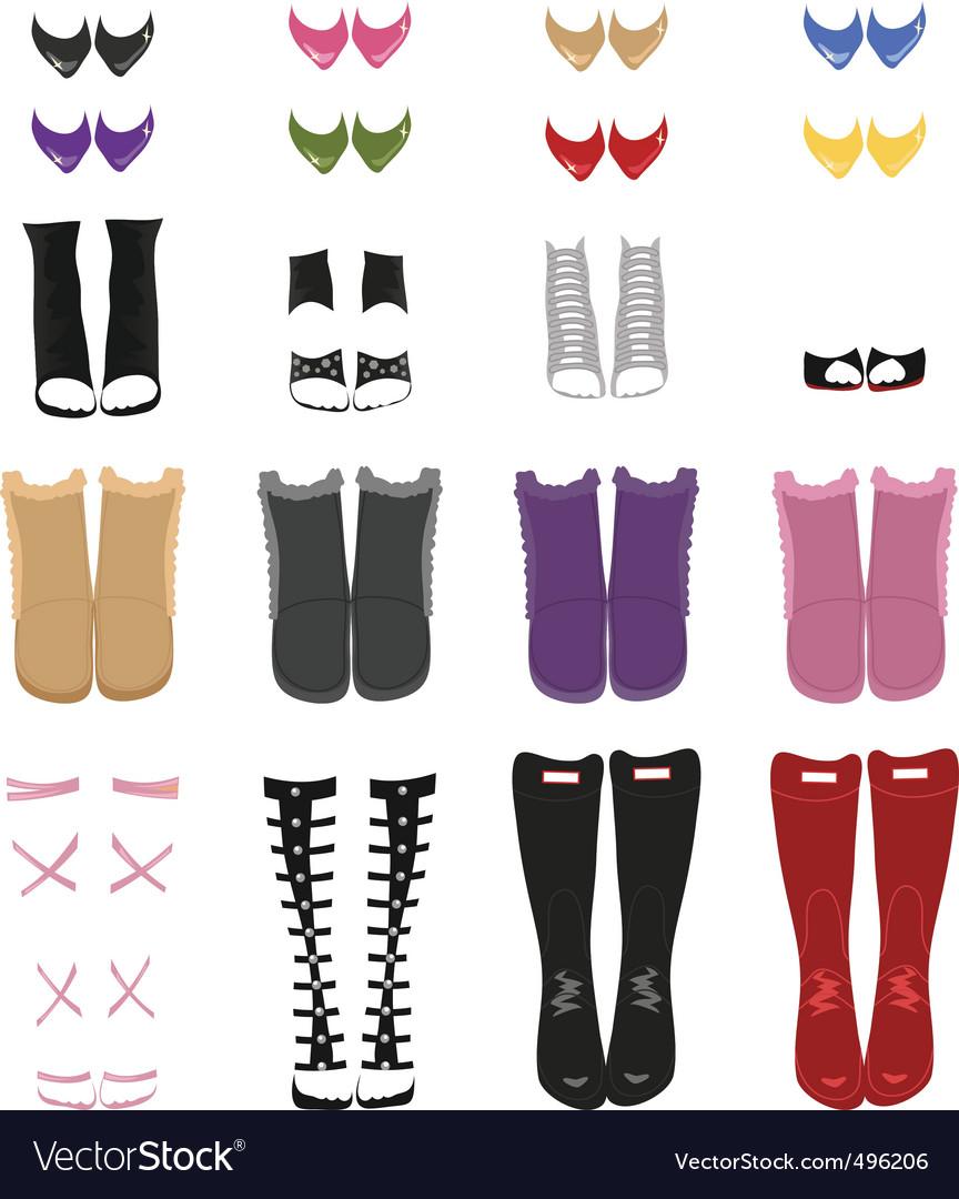 Set of female shoes