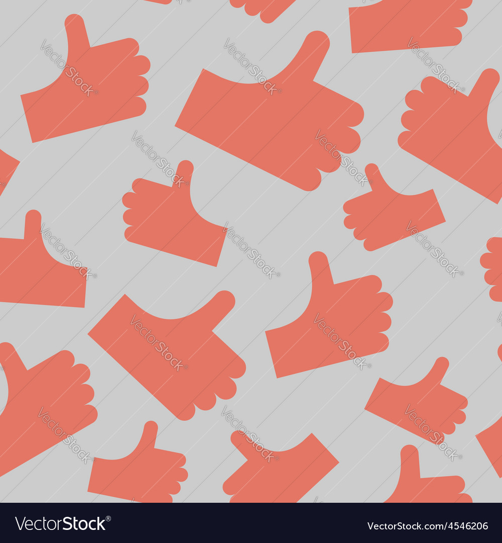 Thumbs up seamless pattern background hands