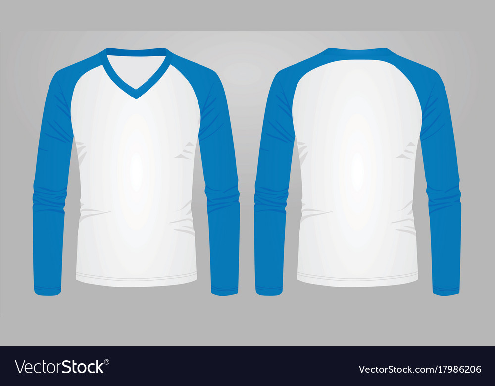Two color long sleeve t shirt Royalty Free Vector Image be0082bf62d