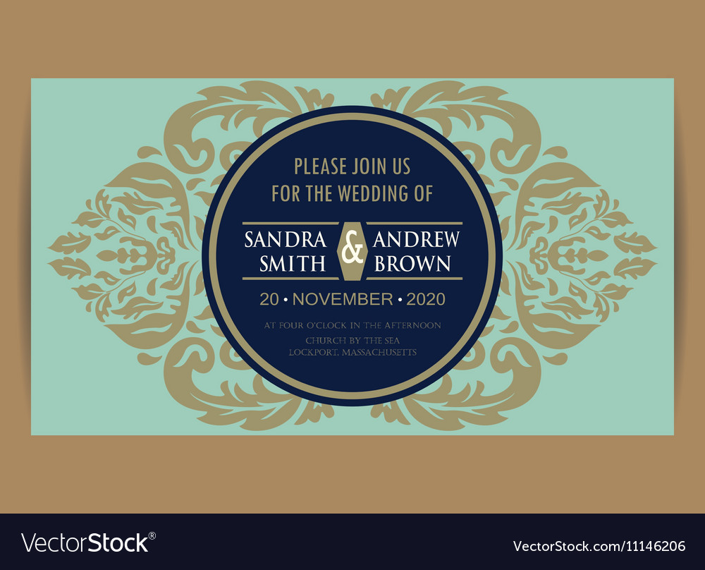 Wedding invitation and save the date card