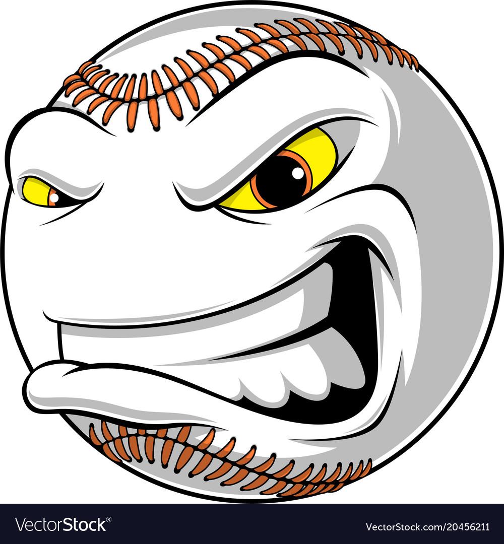 Angry ball for baseball