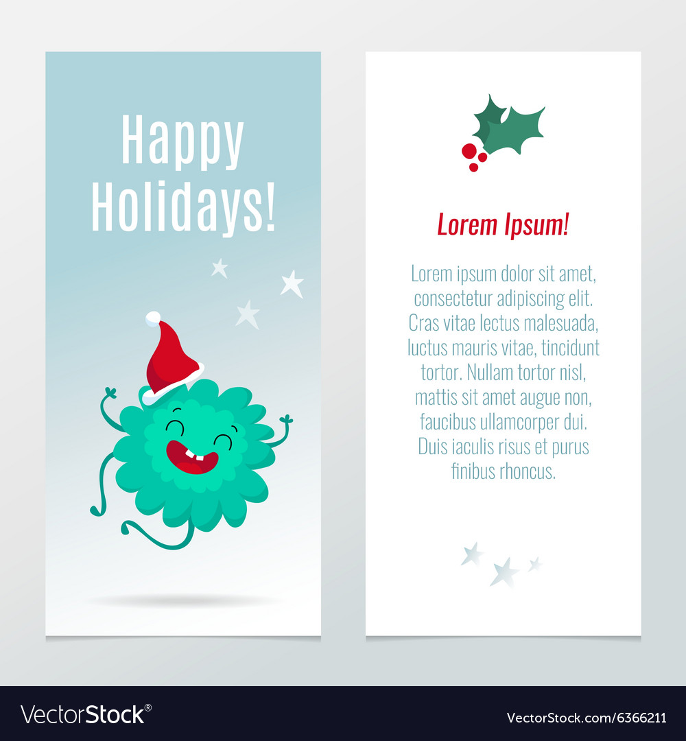 Funny Christmas and New Year holiday banners