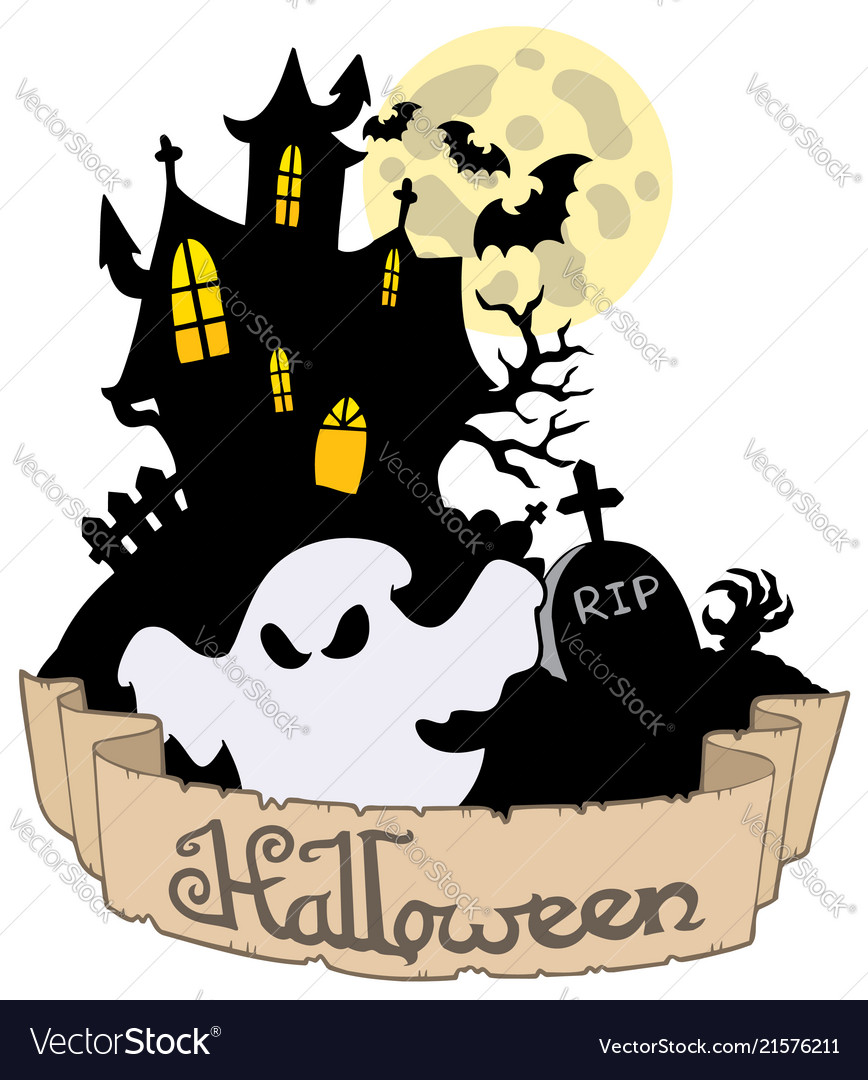 halloween theme with ghost royalty free vector image