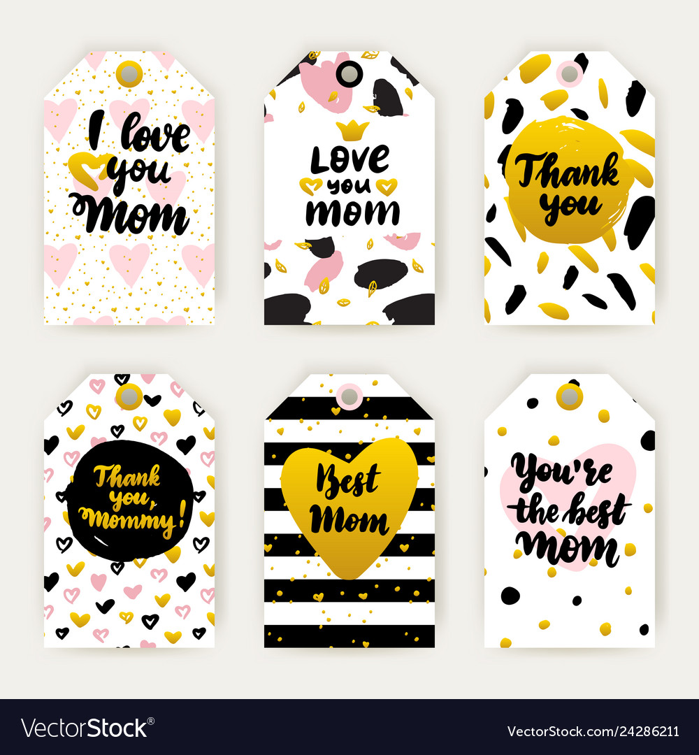 Happy mothers day trendy gift labels