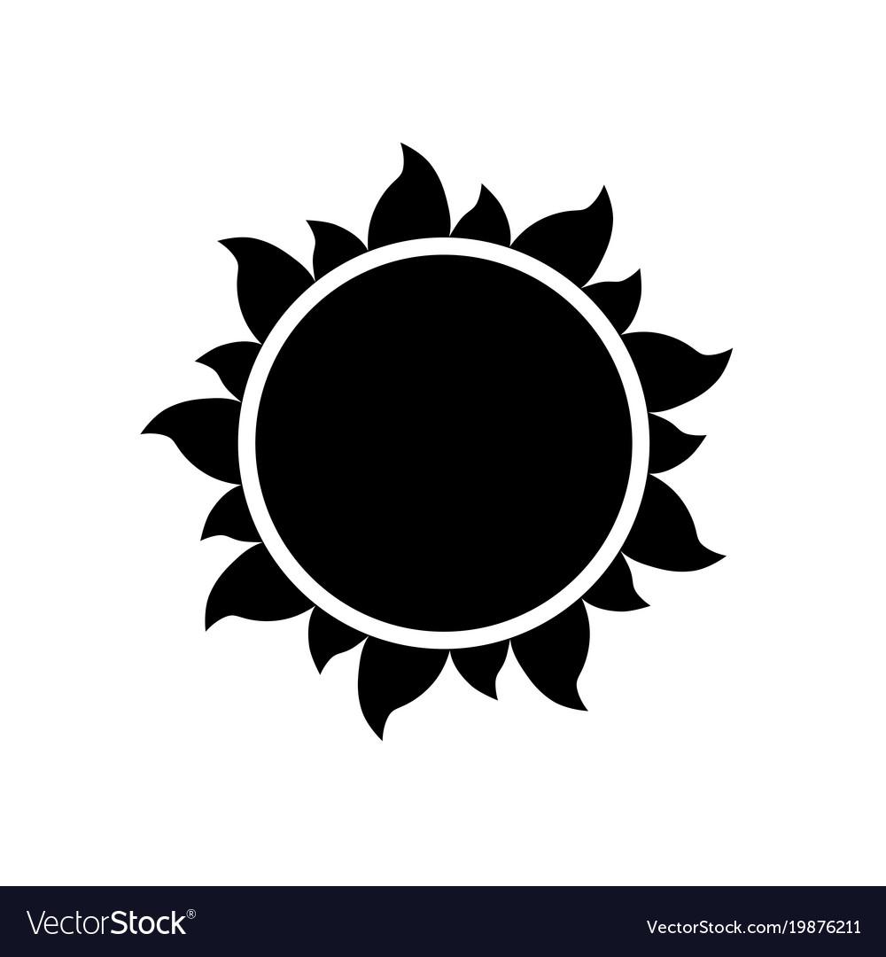 Simple sun icon on white background