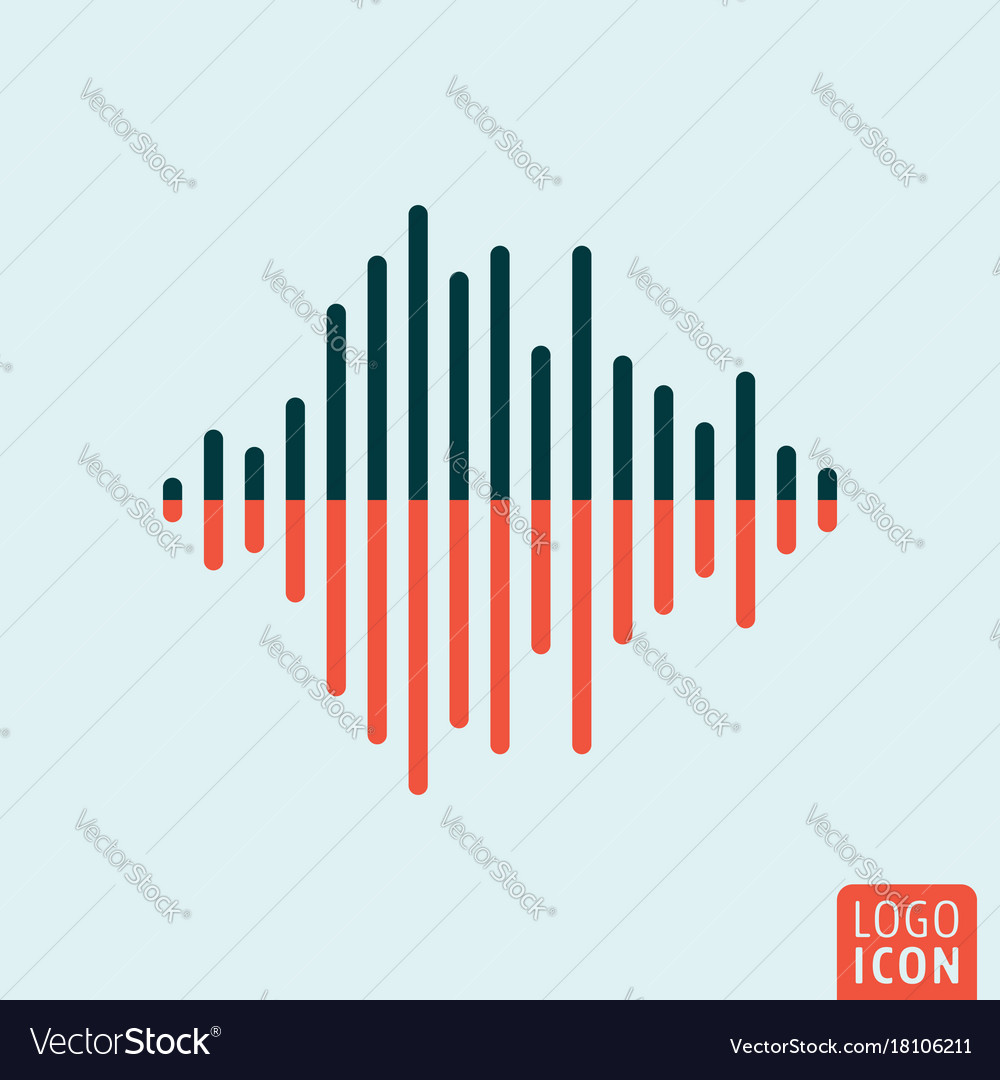 Sound wave icon isolated
