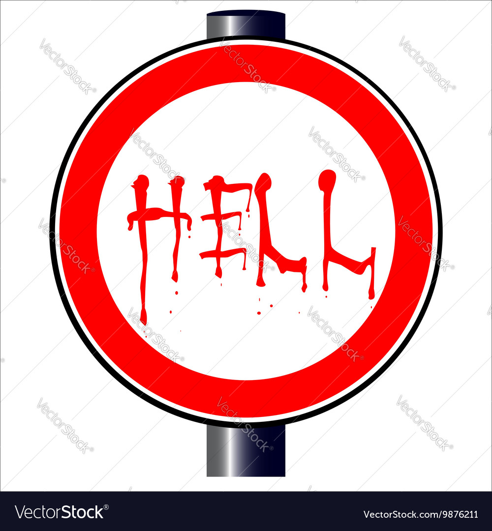 Spoof Hell Traffic Sign