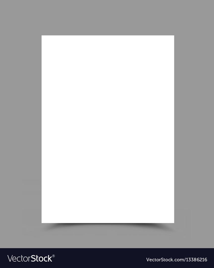 A4 paper form vertical