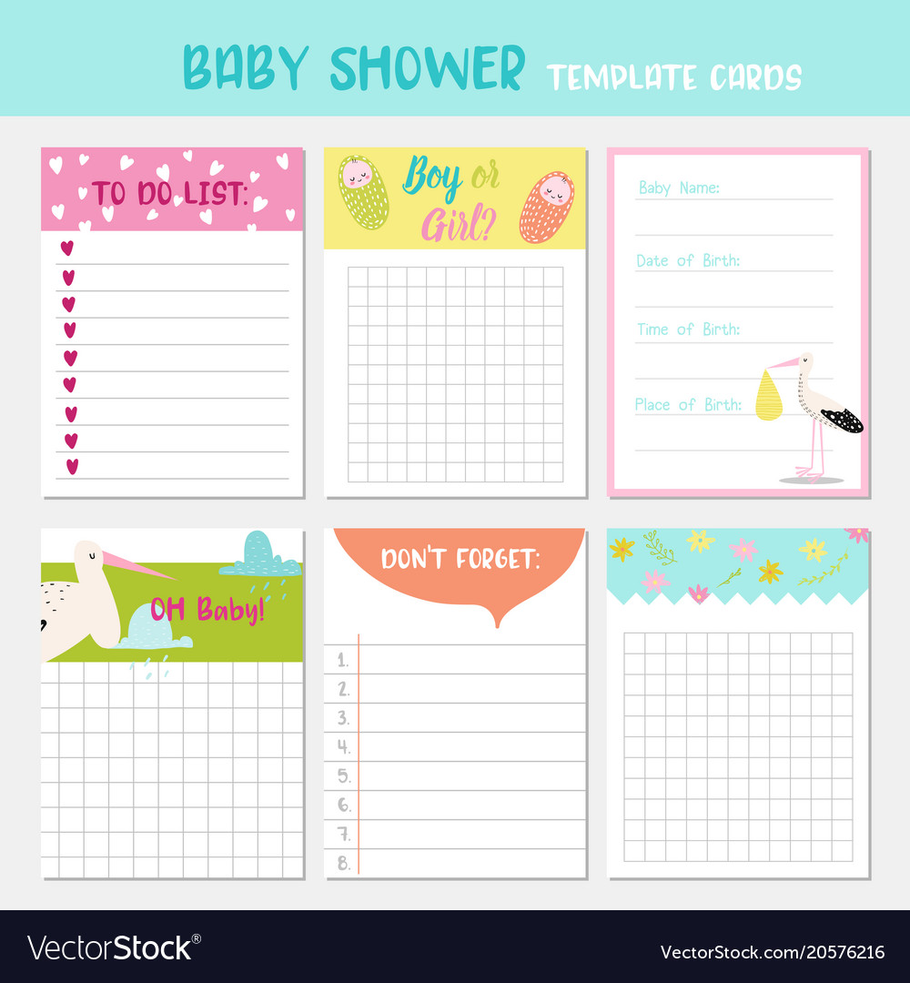 Baby shower party templates child card