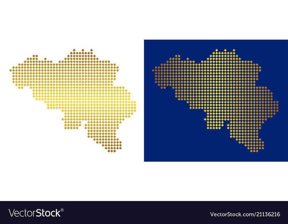 Gold dot belgium map