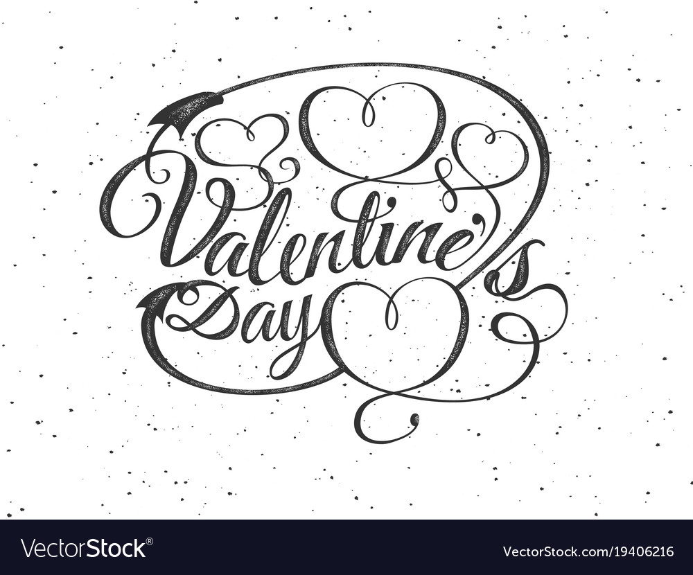 Happy valentines day greeting card font