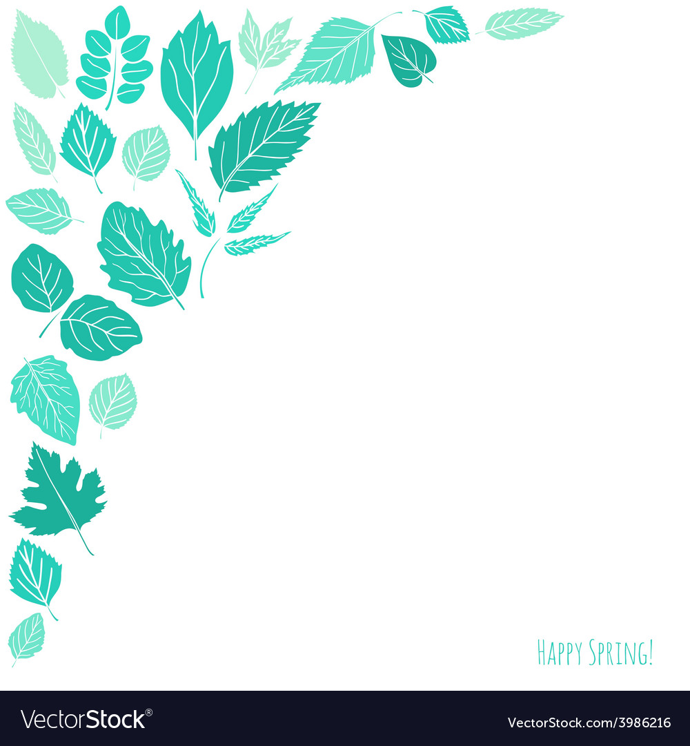 Spring background with leaves