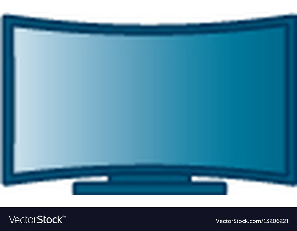 Curved flat screen smart tv