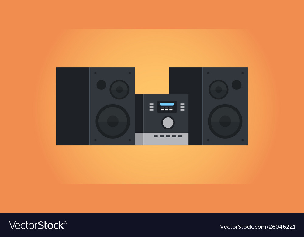 Electric home audio systems sound device icon