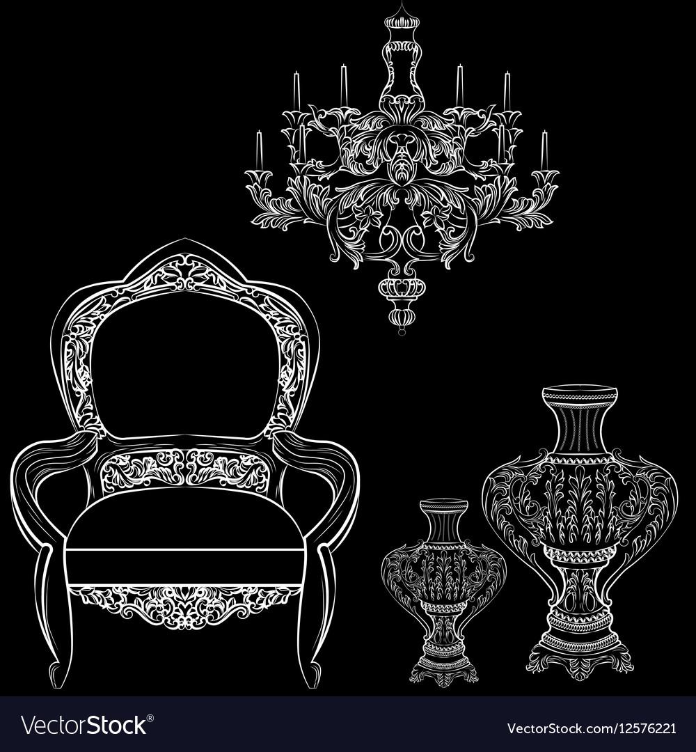 Exquisite fabulous imperial baroque furniture