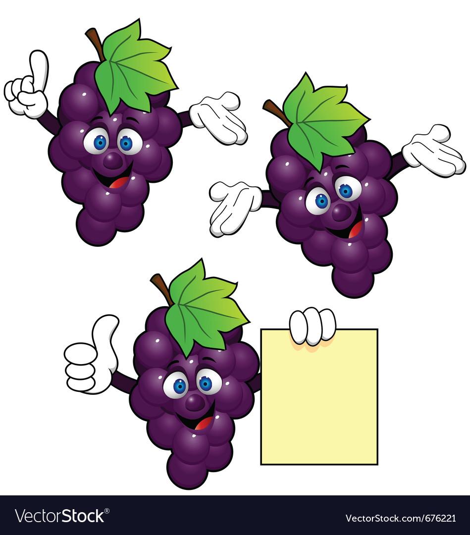 Grape cartoon vector image