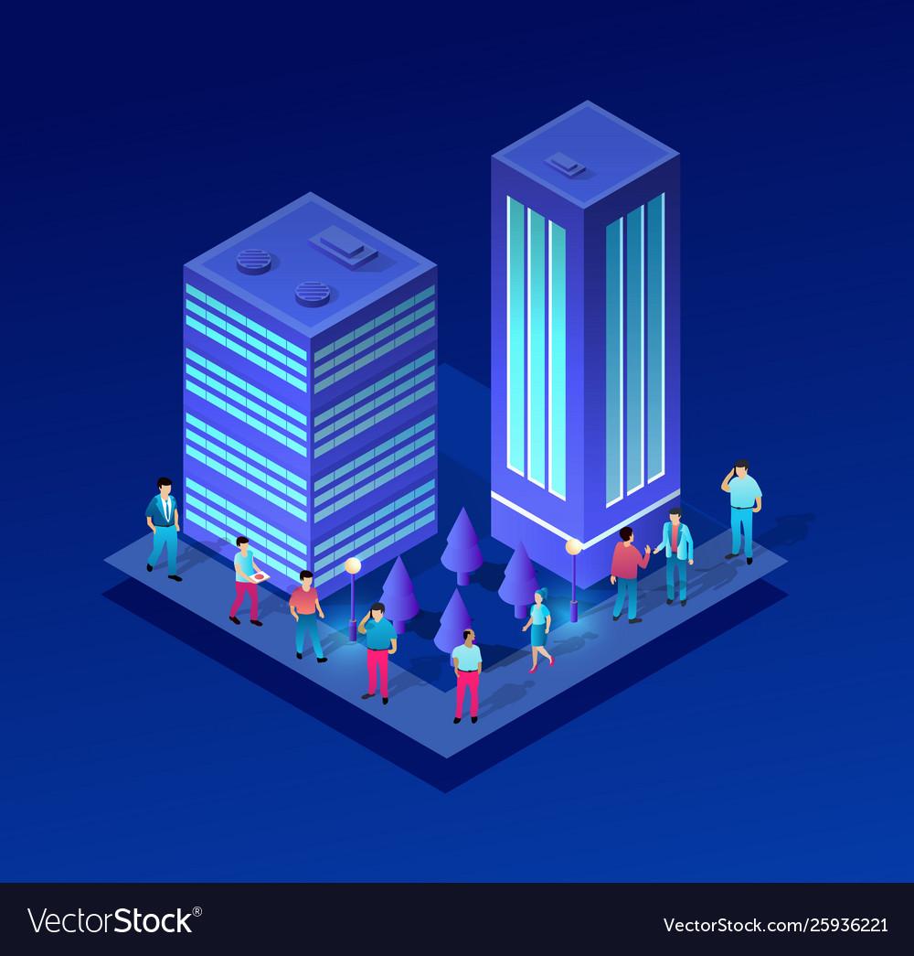 Isometric people urban