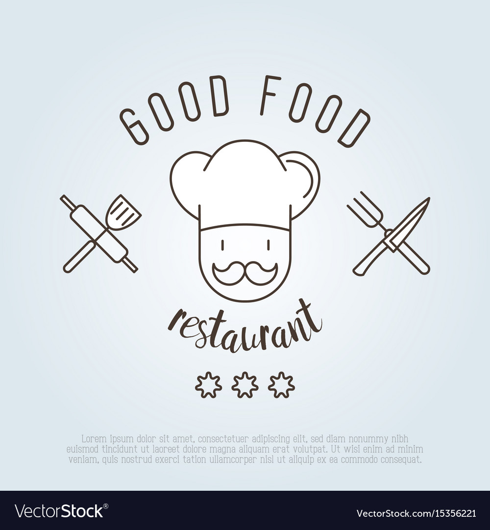 Logo for cafe or restaurant with chef