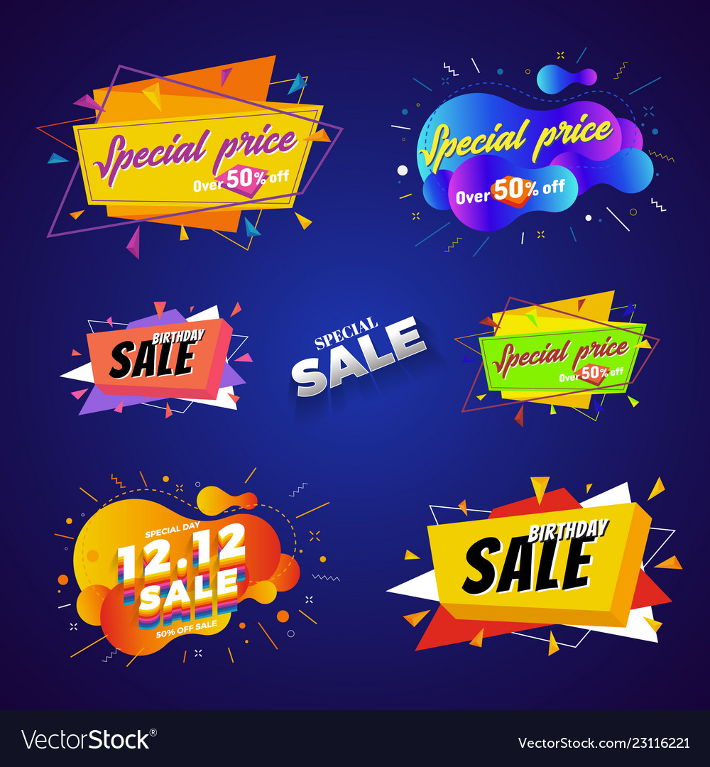 Special price sale banner abstract design