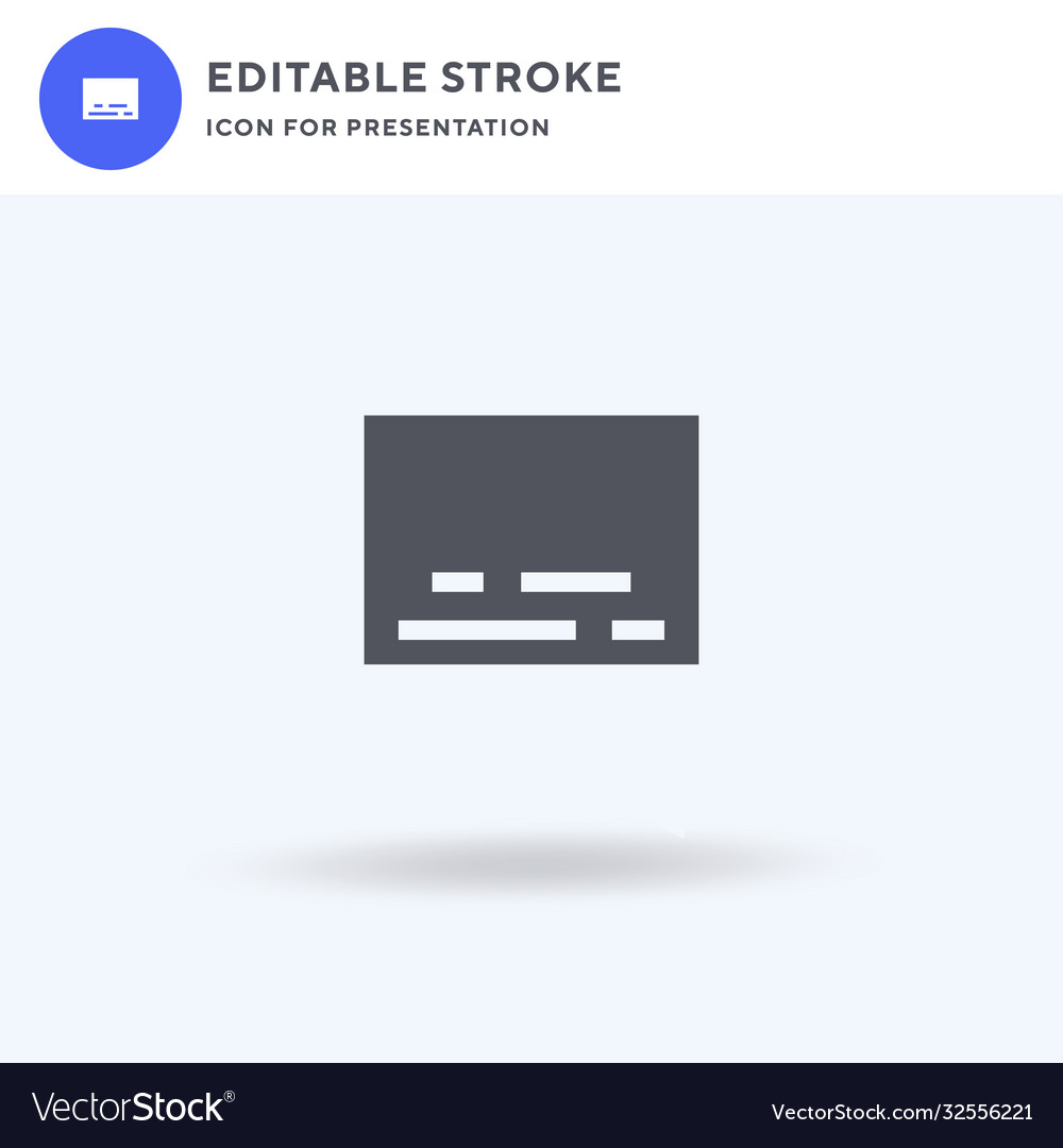 Subtitles icon filled flat sign solid