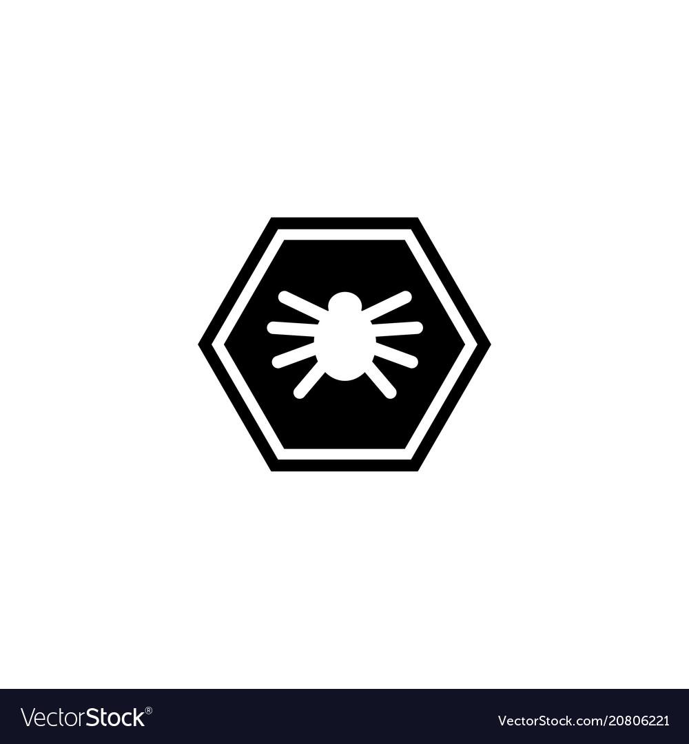 Virus microbe bacteria flat icon