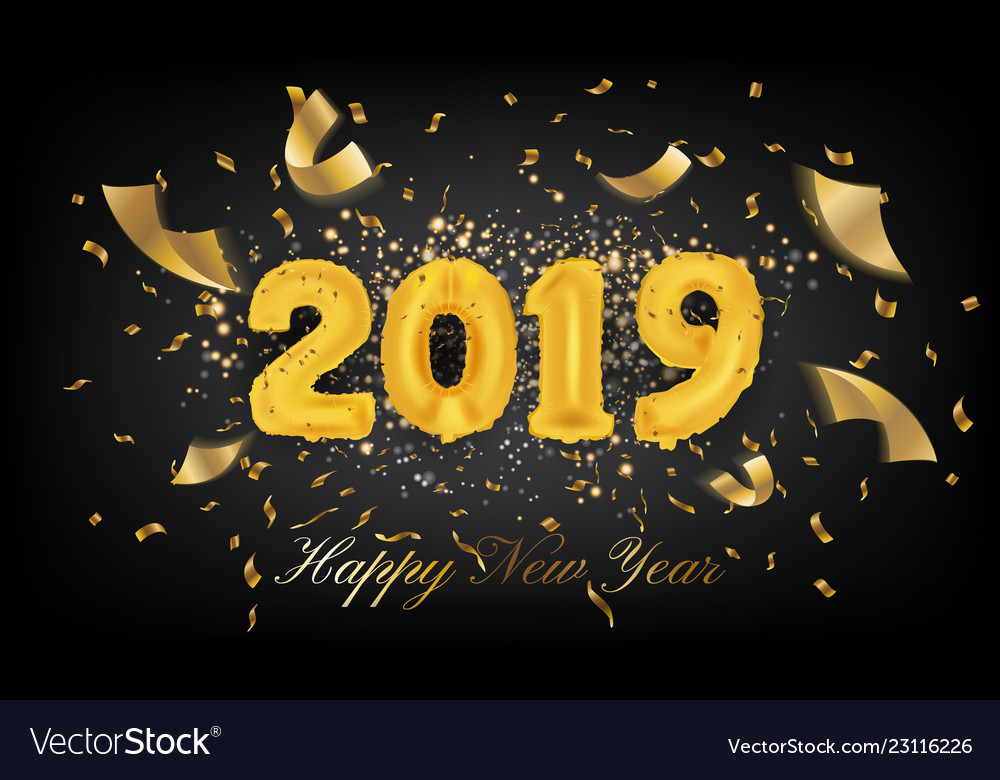 2019 happy new year greeting card background 2019