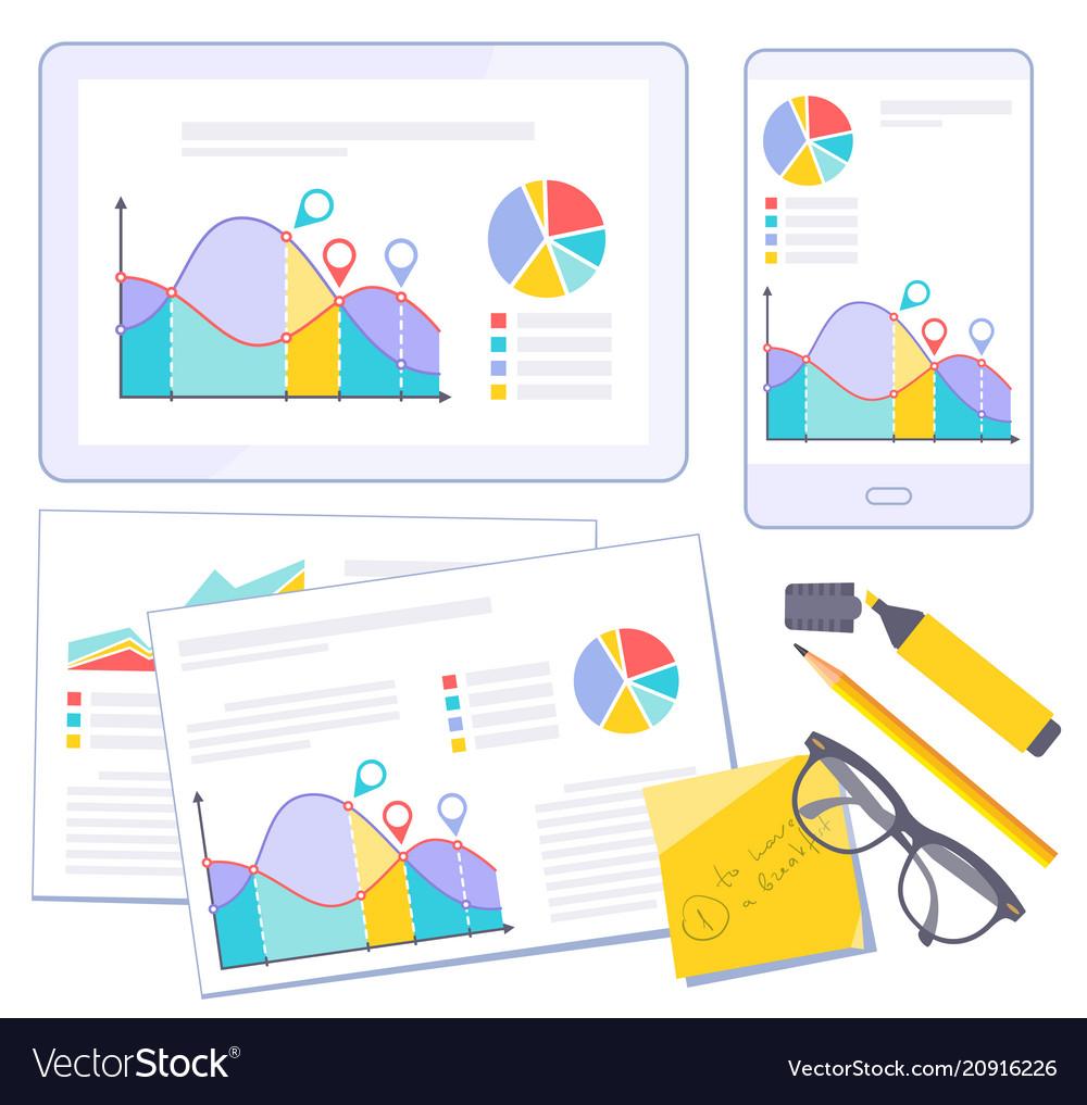 Busines flat design presentation template