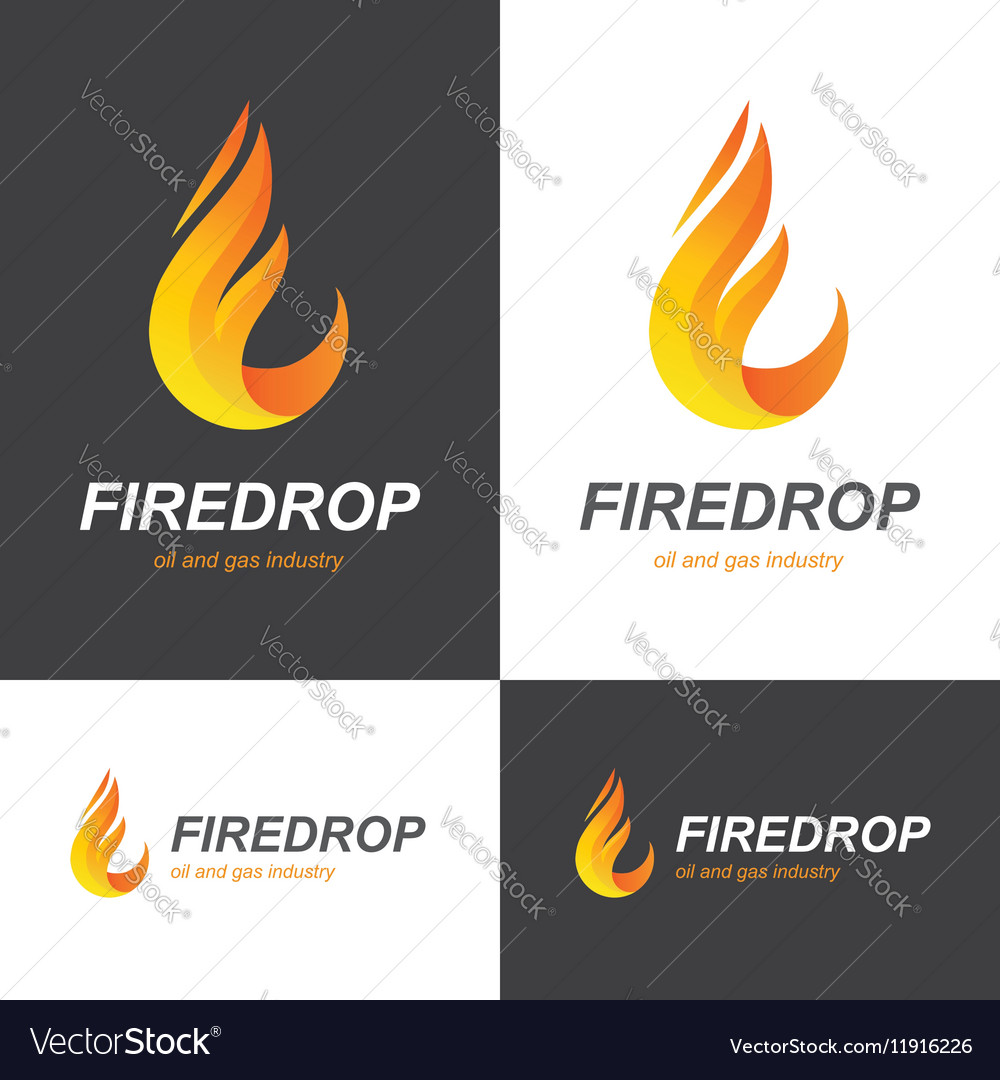 Fire flame drop logo vector