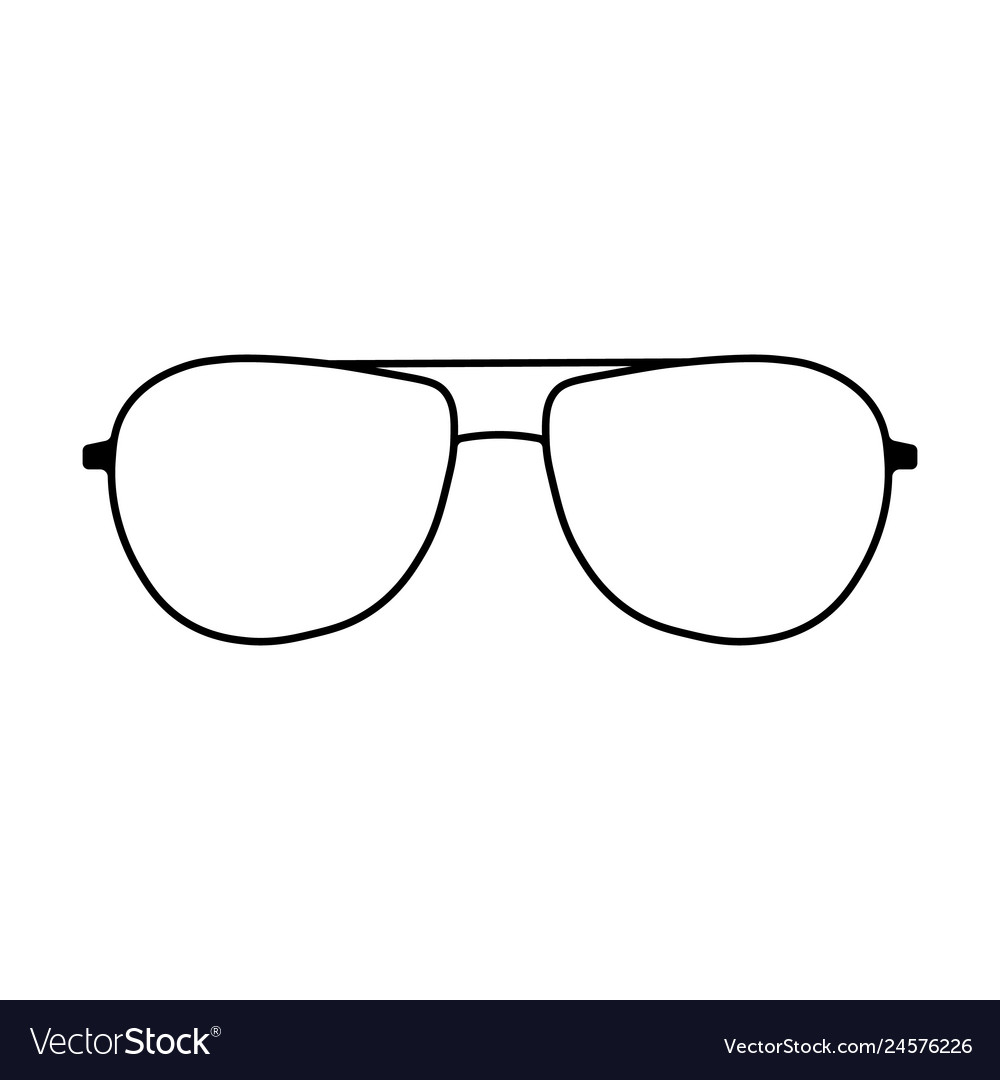 Glasses icon sign