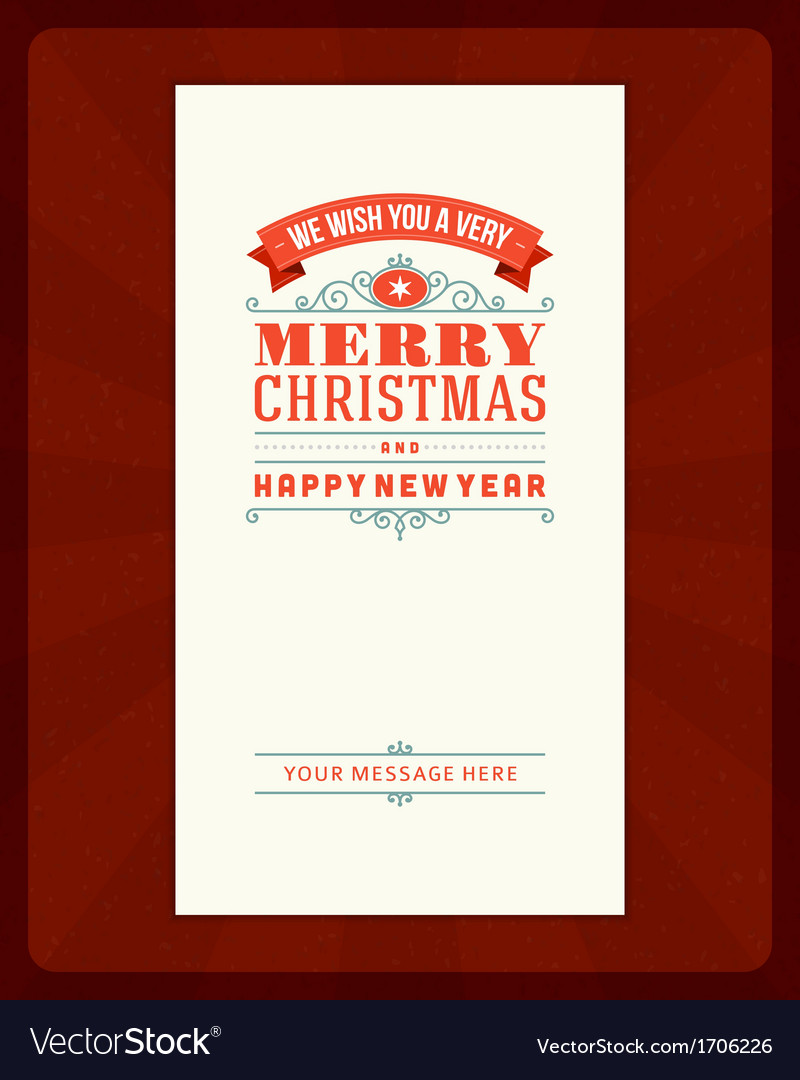 Merry Christmas invitation card ornament decoratio