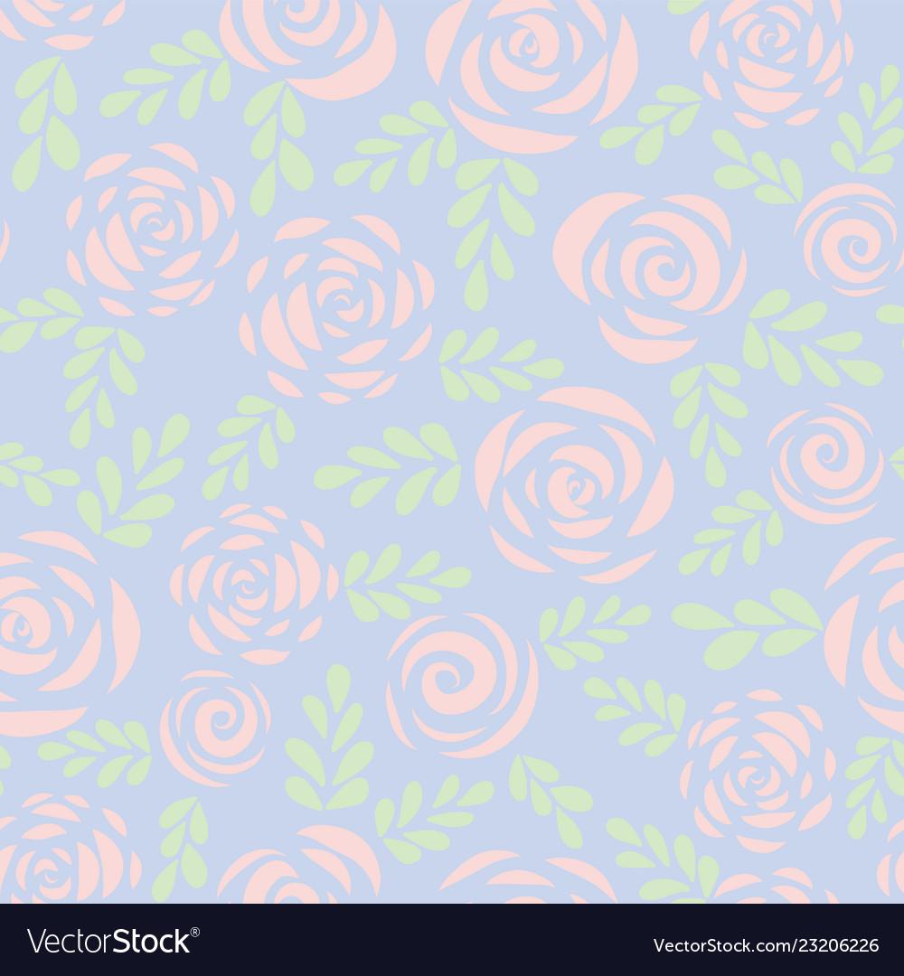 Pastel roses seamless pattern background