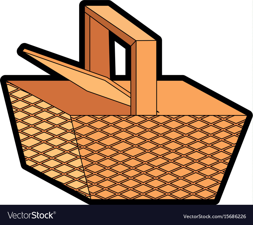 Picnic Basket Cartoon Royalty Free Vector Image