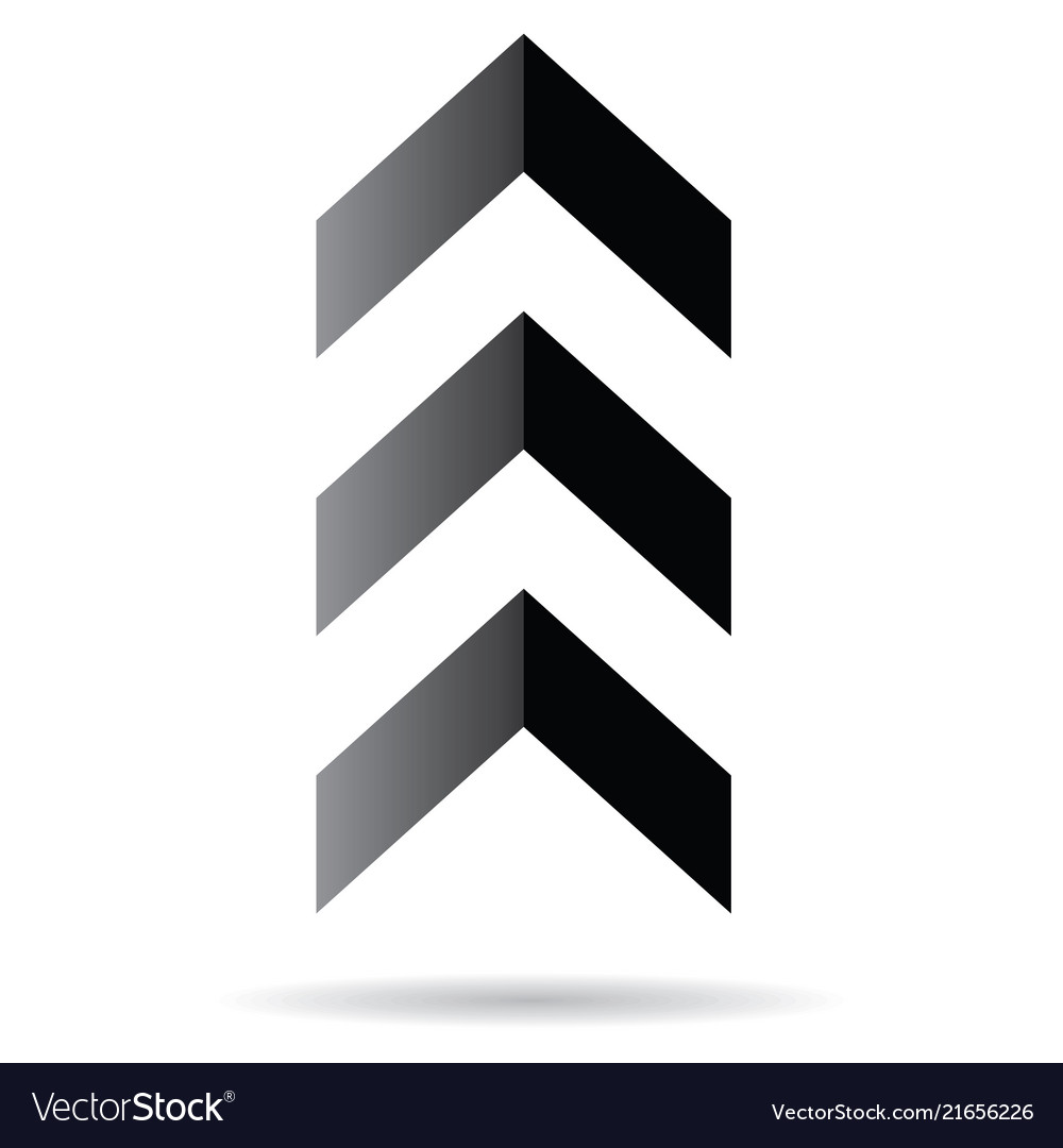 Popular abstract zig zag black chevron stack