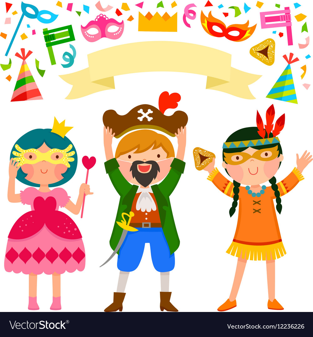 Purim party vector image