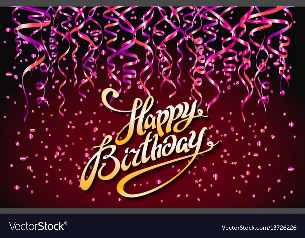 Red party background happy birthday celebration