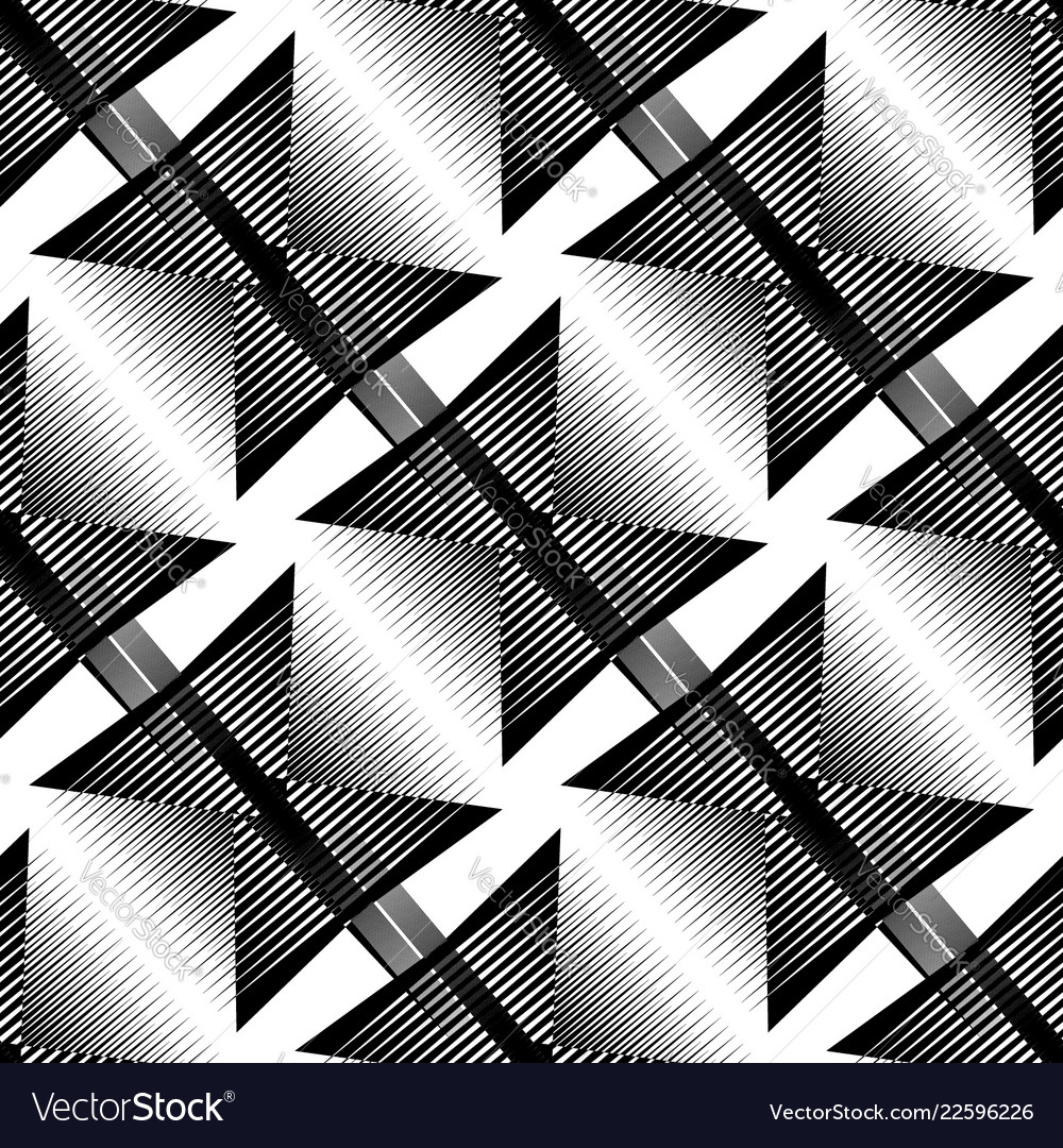 Repeatable pattern abstract monochrome geometric