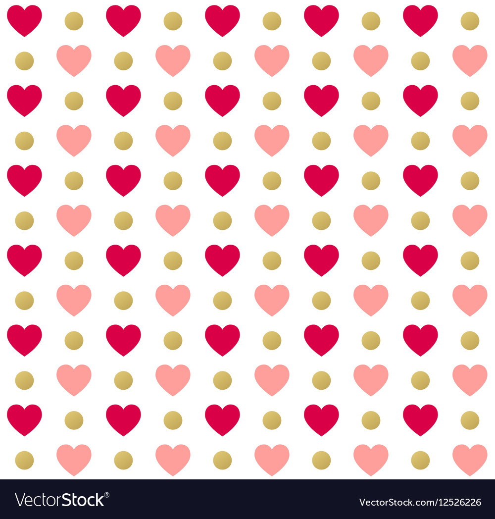 Seamless valentines day polka dot red pattern