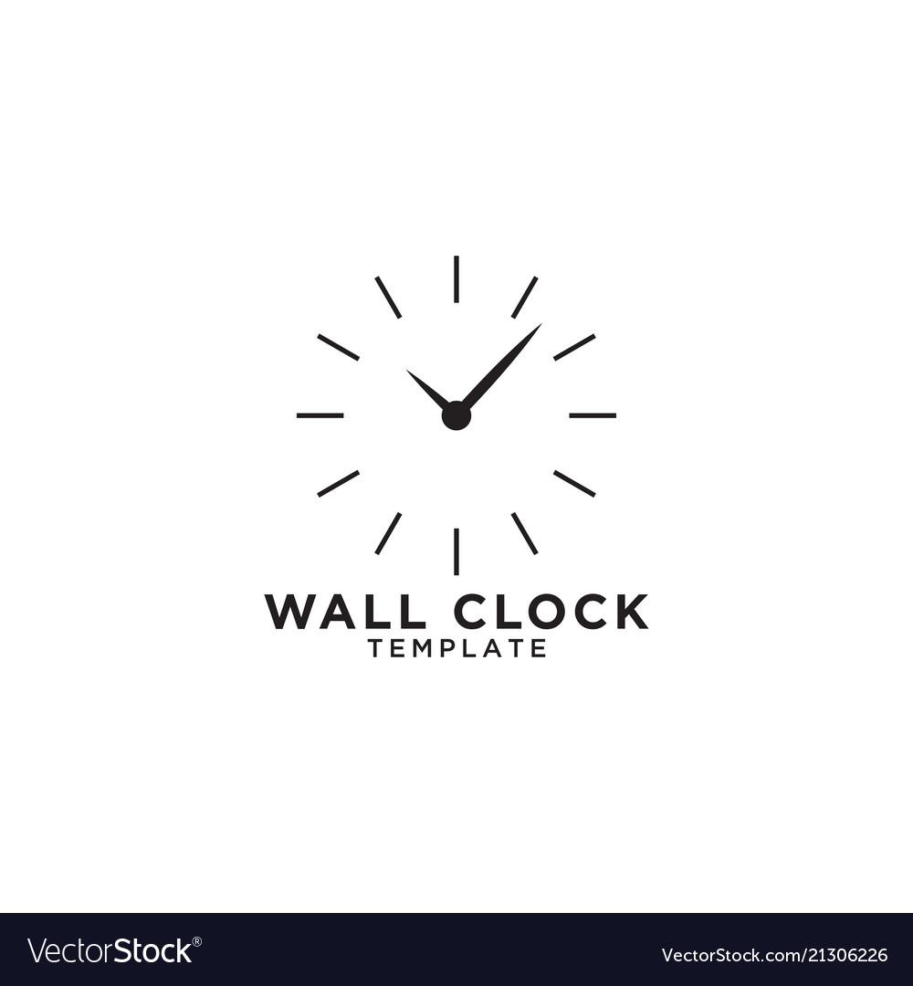 Wall clock logo design template