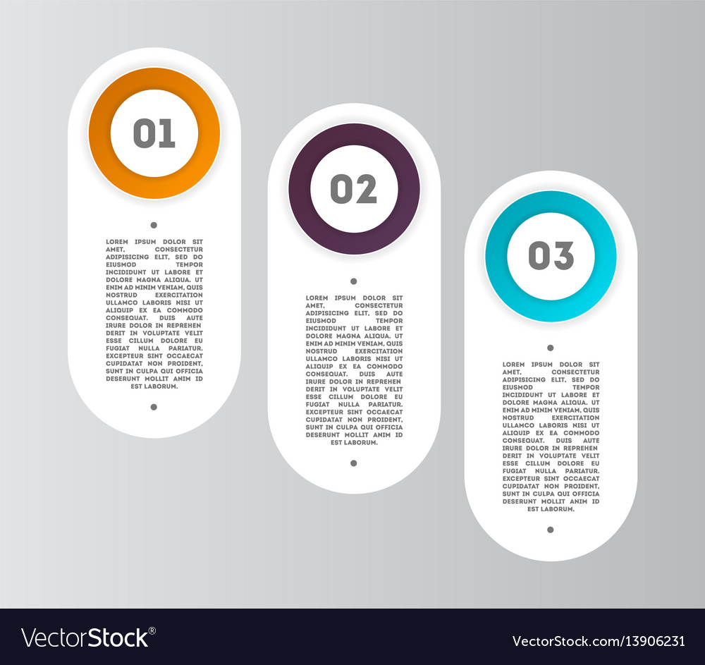Abstract infographics diagram with 3 step vector image