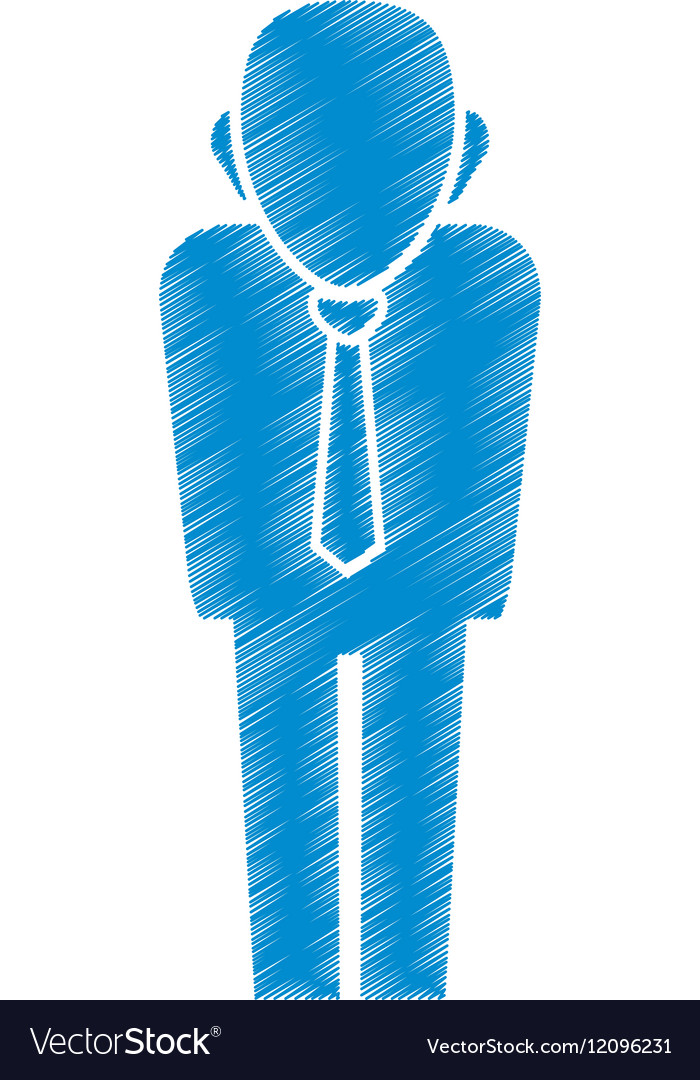 Businessman executive pictogram vector image