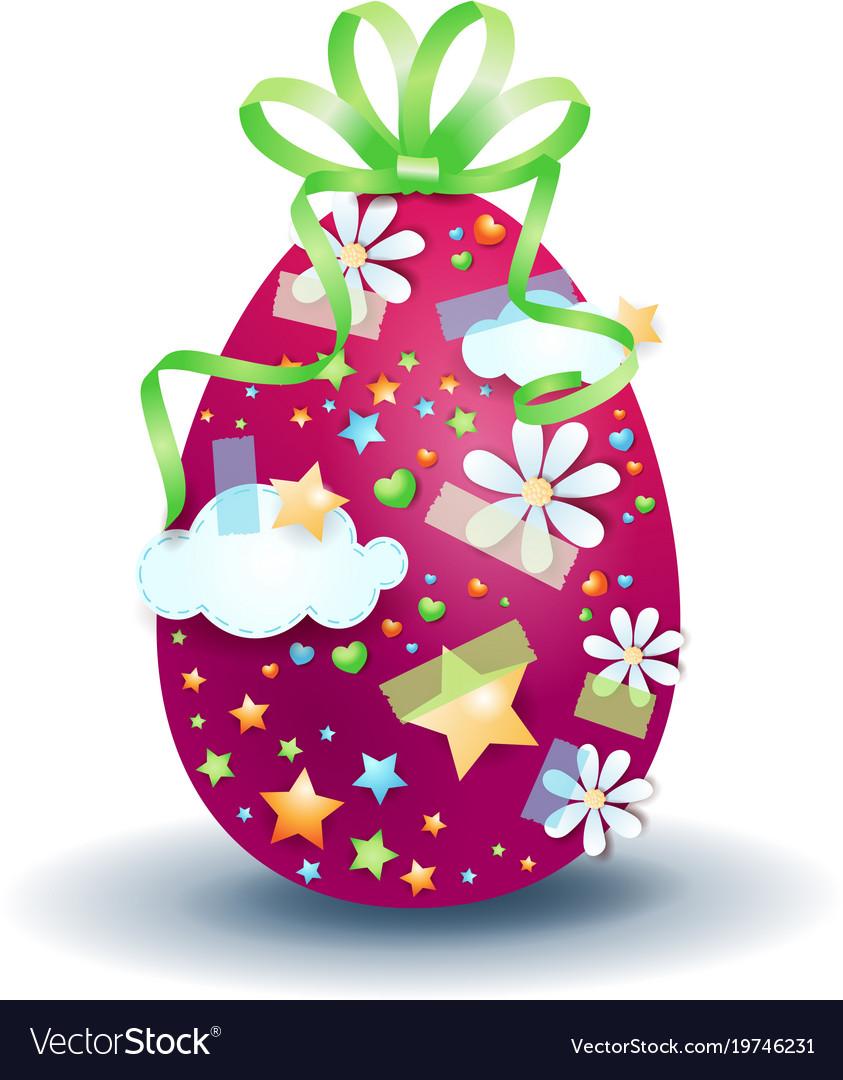 Easter egg isolated on white background