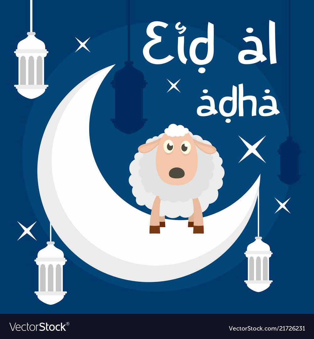 Eid al adha background flat style