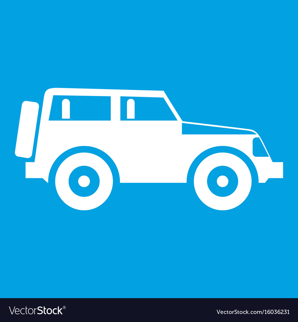 jeep icon white royalty free vector image vectorstock