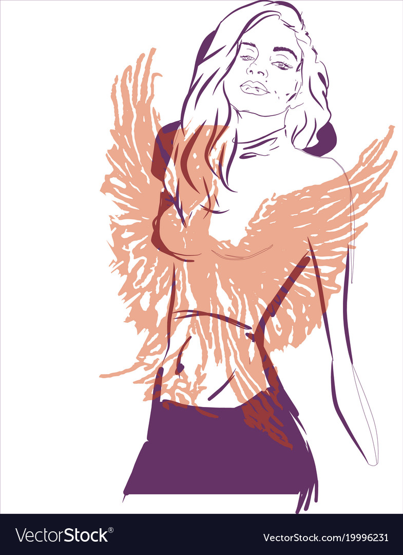 Phoenix girl abstract concept